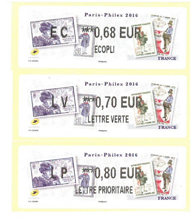 LISA PARIS-PHILEX 2016 HISTOIRE POSTALE