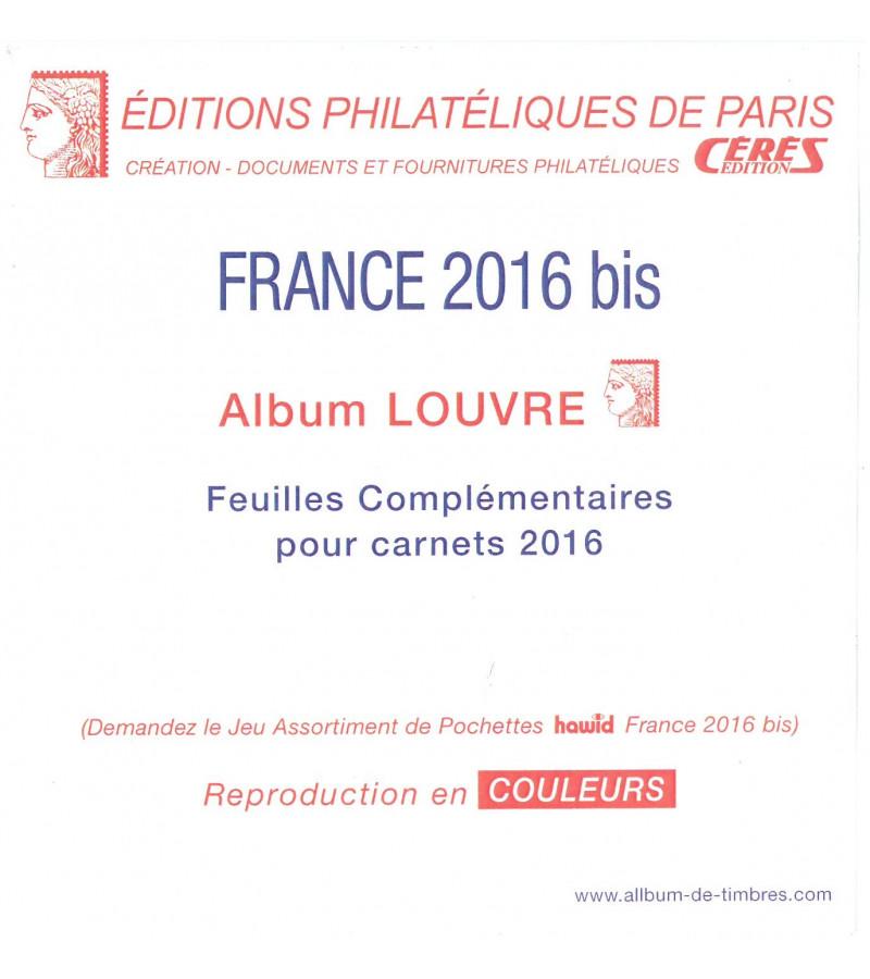 Feuilles France Louvre 2016  pour carnets autocollants