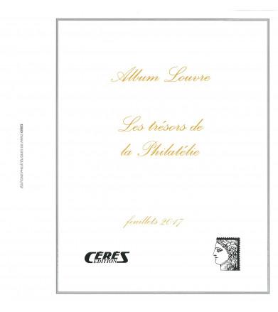 Feuilles France Louvre Feuillets Trésors de la Philatélie 2017