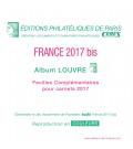 Feuilles France Louvre 2017 pour carnets autocollants
