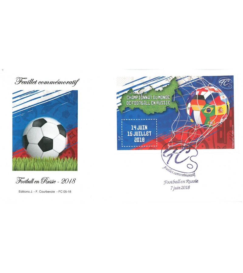 FEUILLET COMMEMORATIF MONDIAL DE FOOTBALL 2018