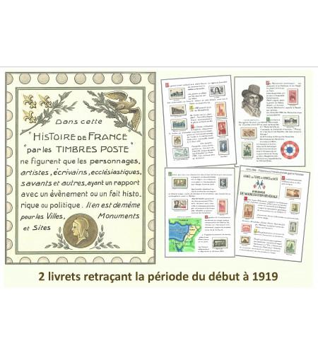 LIVRETS HISTOIRE DE FRANCE PAR LES TIMBRES