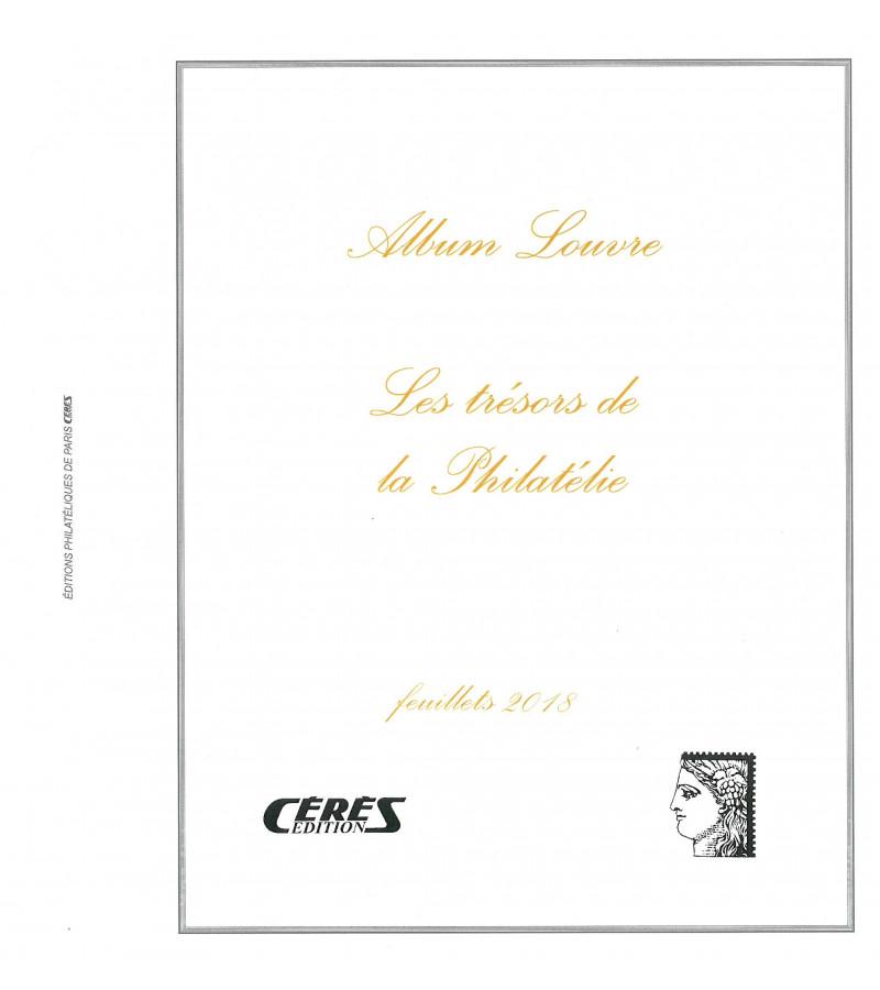 Feuilles France Louvre Feuillets Trésors de la Philatélie 2018