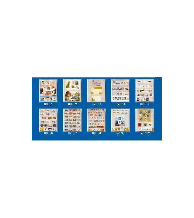 Feuillet-pochette transparente pour document