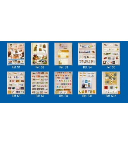 Feuillet-pochette transparente de 4 bandes de 55 x 190
