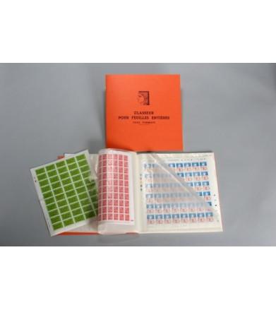 classeur pour feuilles entières de timbres